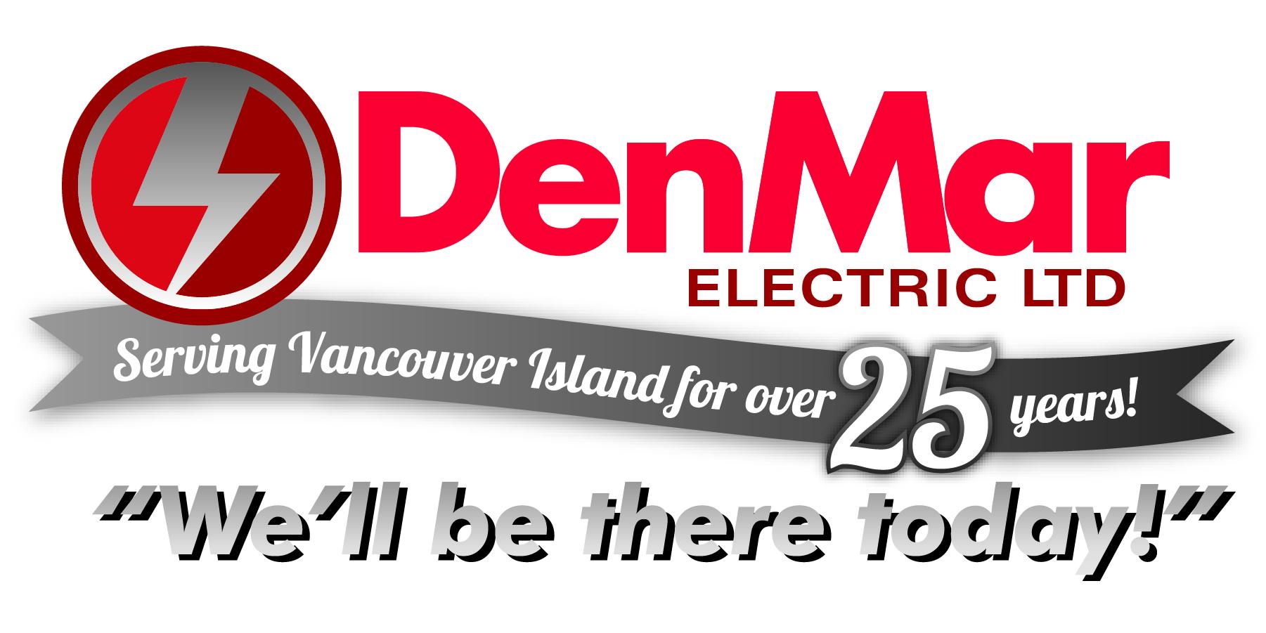 DenMar Electric - 25 Anniversary LOGO-tagline